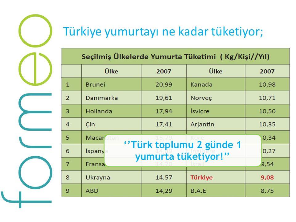 ''Türk toplumu 2 günde 1 yumurta tüketiyor!''