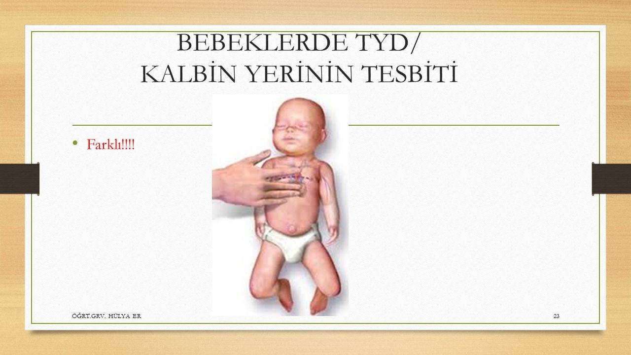 BEBEKLERDE TYD/ KALBİN YERİNİN TESBİTİ