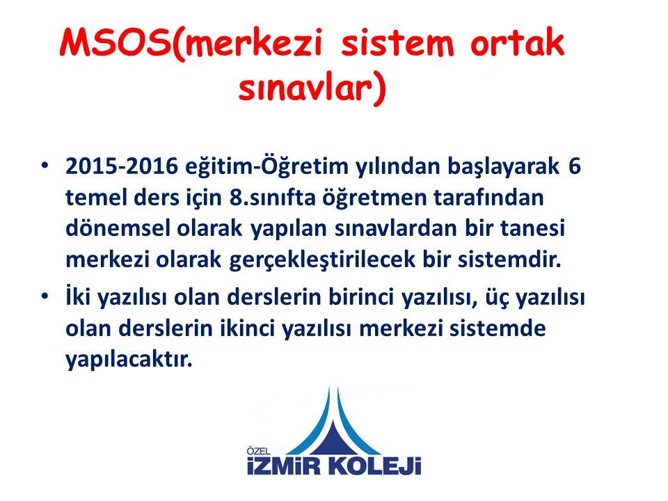 MSOS(merkezi sistem ortak sınavlar)