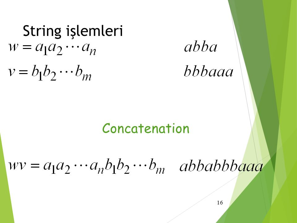 String işlemleri Concatenation