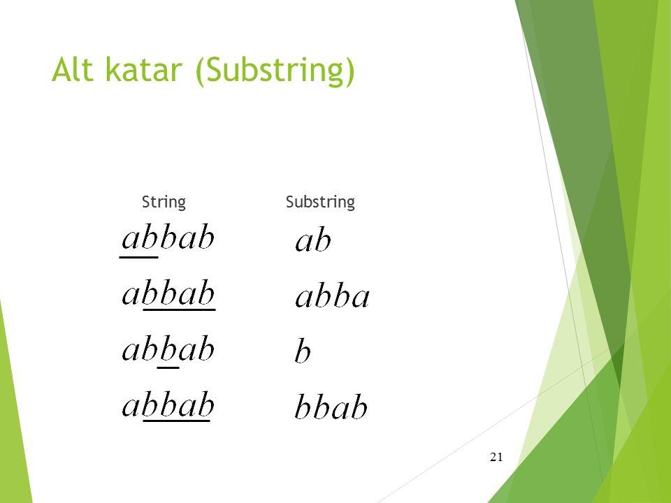 Alt katar (Substring) String Substring