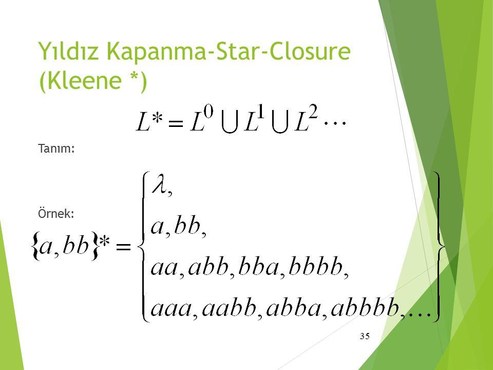 Yıldız Kapanma-Star-Closure (Kleene *)