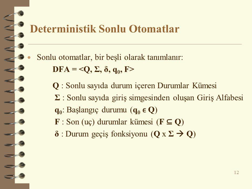 Deterministik Sonlu Otomatlar