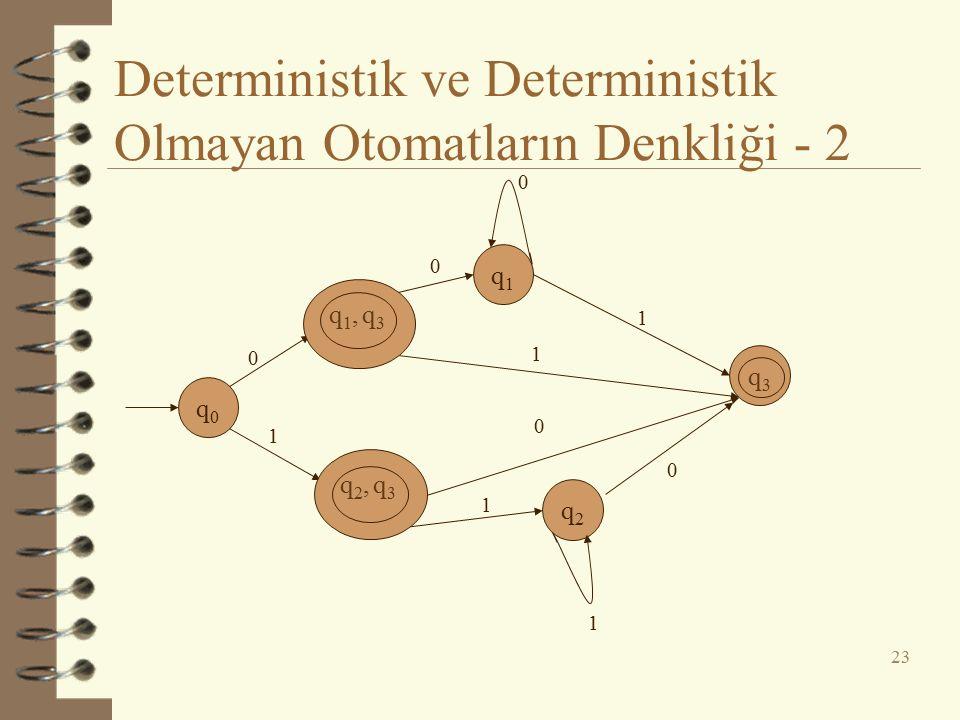 Deterministik ve Deterministik Olmayan Otomatların Denkliği - 2