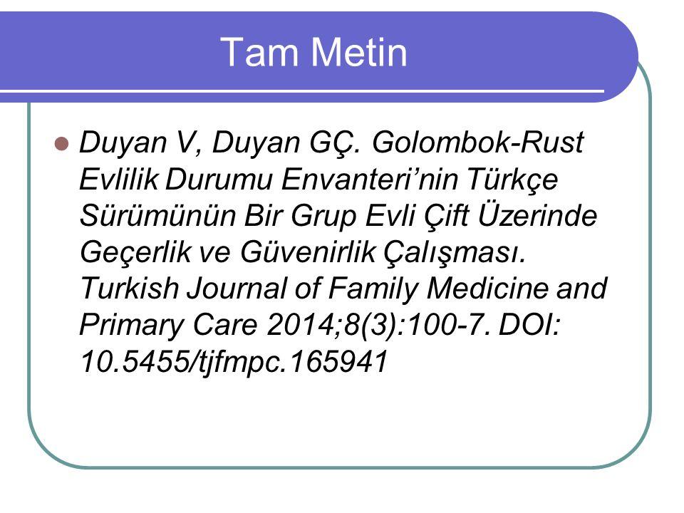 Tam Metin