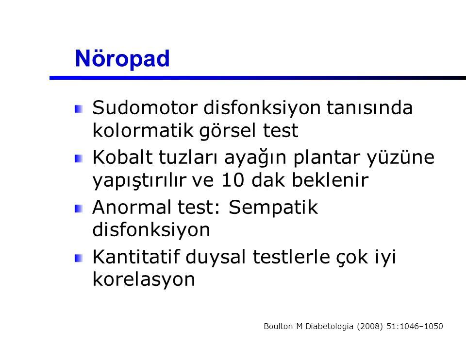 Nöropad Sudomotor disfonksiyon tanısında kolormatik görsel test