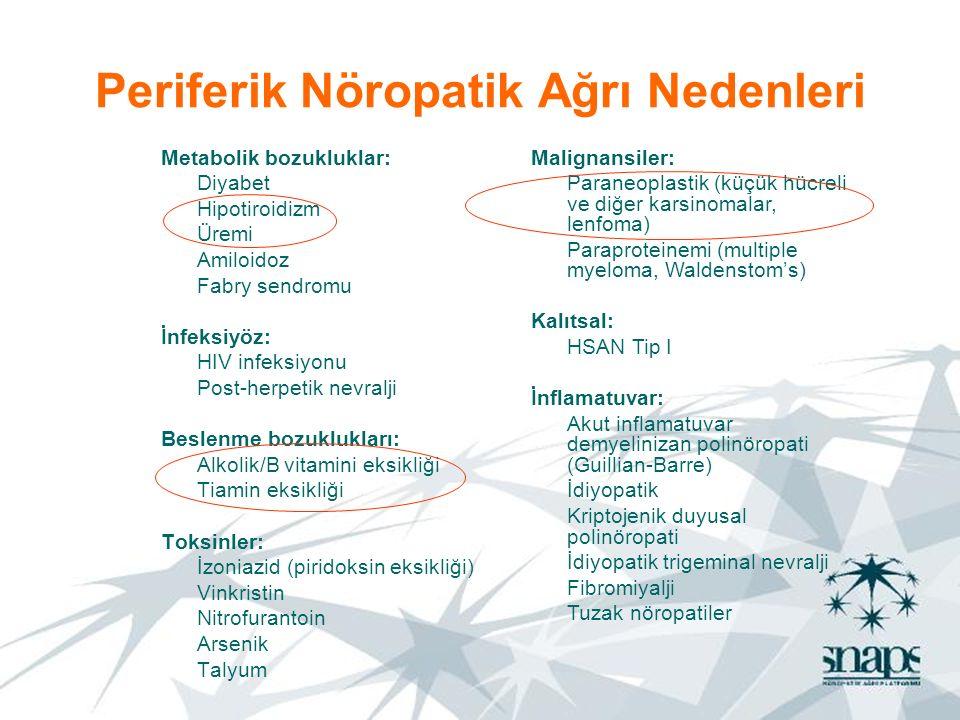 Periferik Nöropatik Ağrı Nedenleri