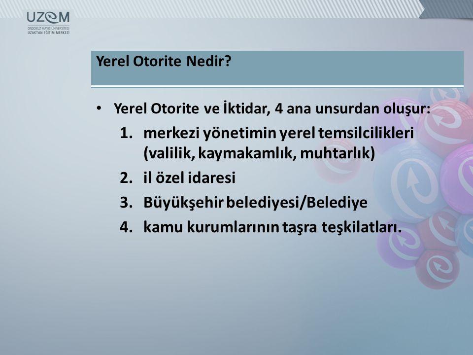 Büyükşehir belediyesi/Belediye kamu kurumlarının taşra teşkilatları.