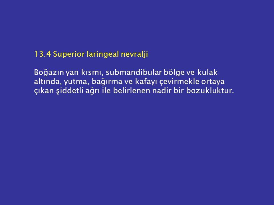 13.4 Superior laringeal nevralji
