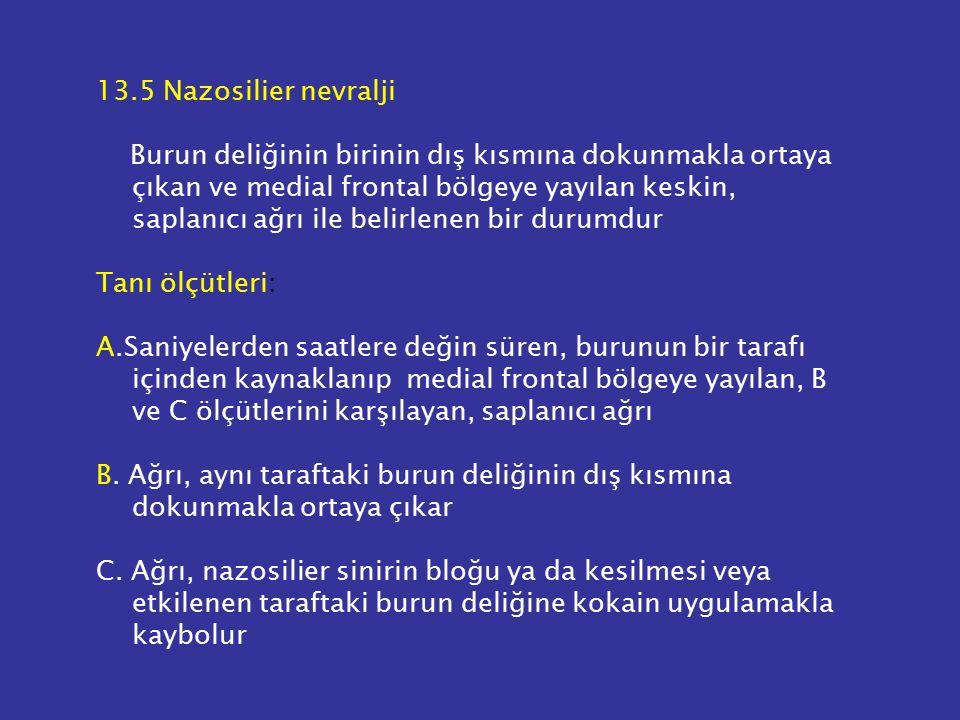 13.5 Nazosilier nevralji