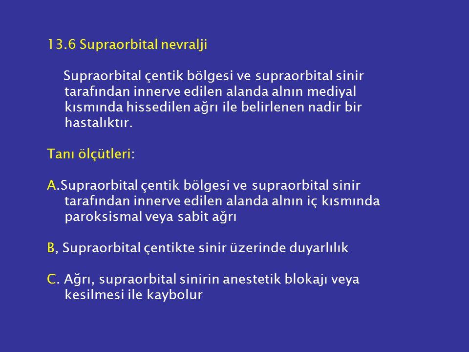 13.6 Supraorbital nevralji