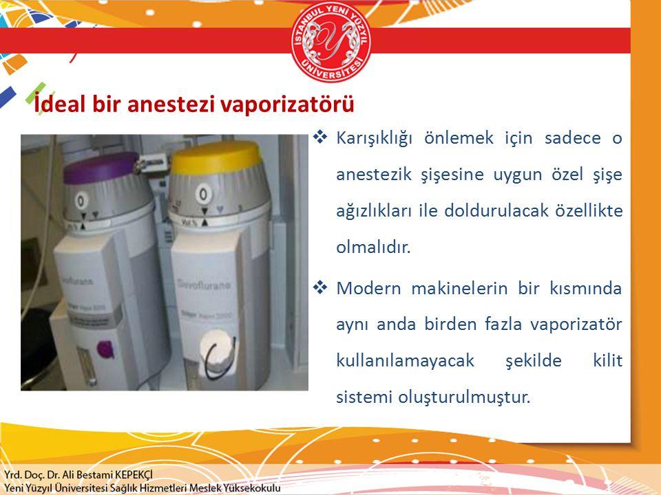 İdeal bir anestezi vaporizatörü