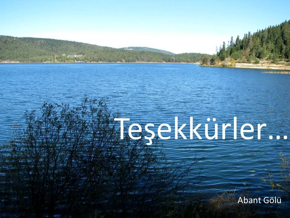 Teşekkürler… Abant Gölü