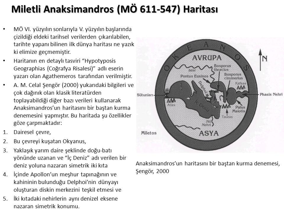 Miletli Anaksimandros (MÖ 611-547) Haritası