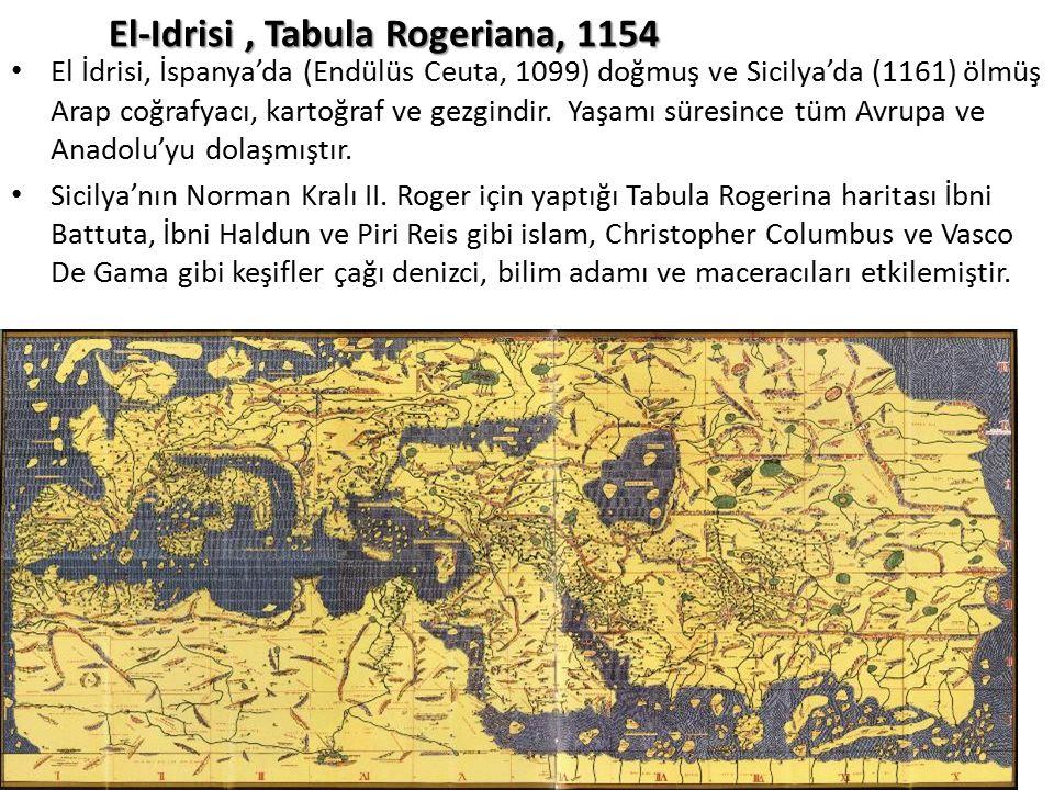El-Idrisi , Tabula Rogeriana, 1154