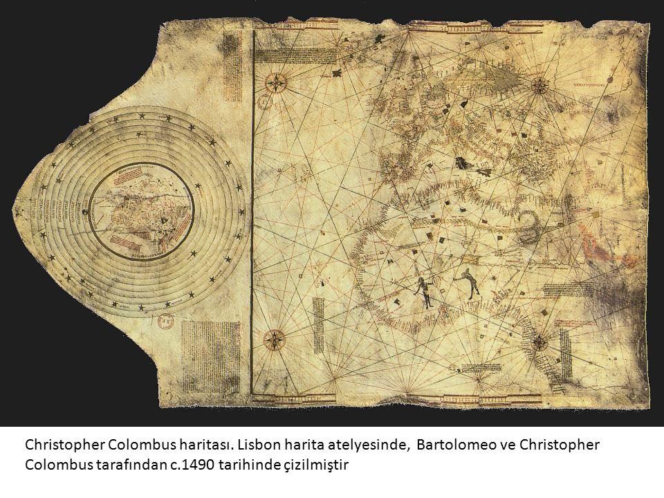 Christopher Colombus haritası