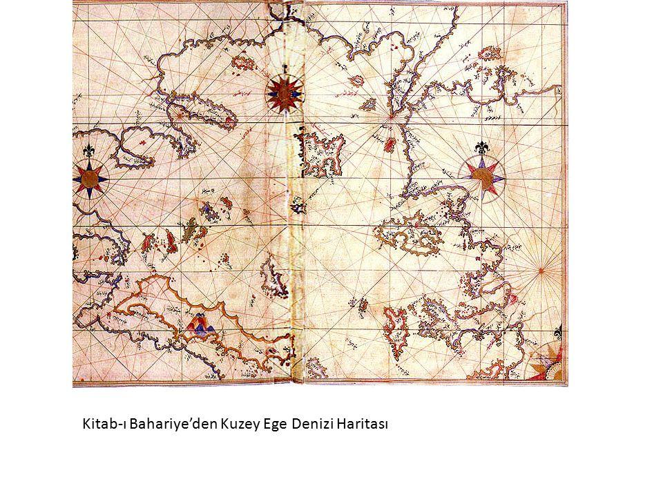 Kitab-ı Bahariye'den Kuzey Ege Denizi Haritası