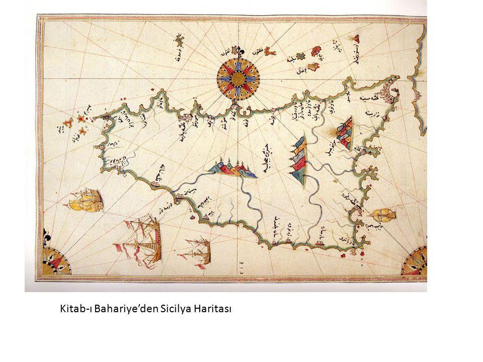 Kitab-ı Bahariye'den Sicilya Haritası