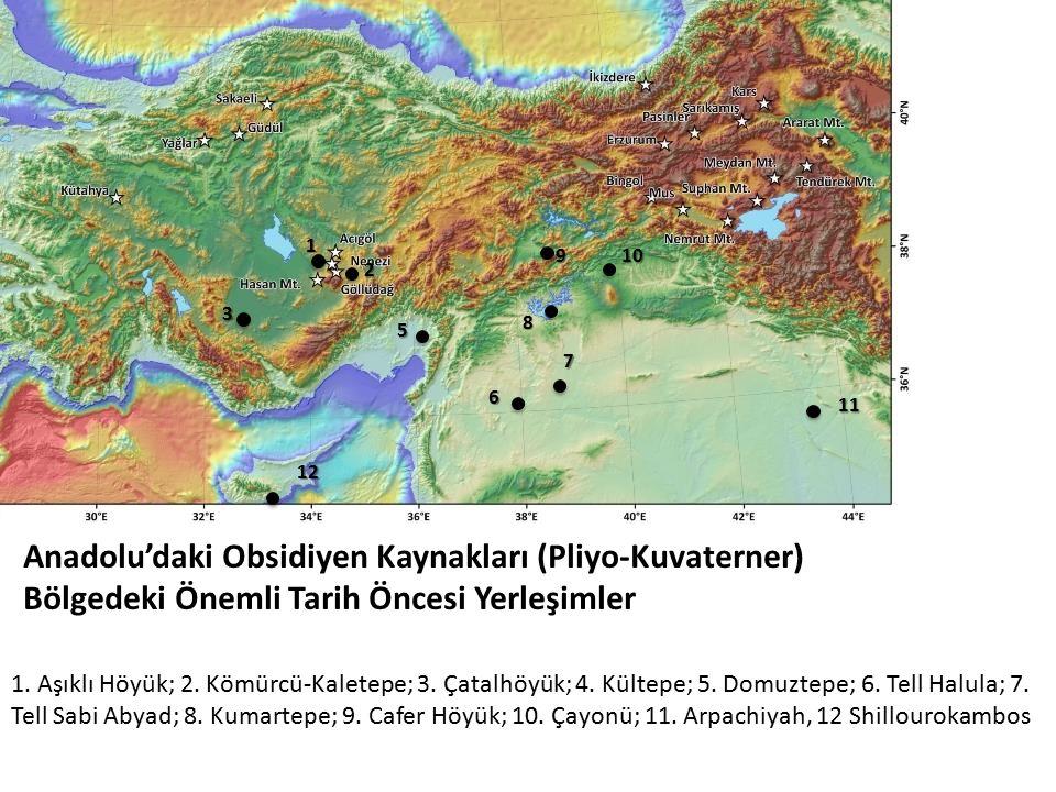 Anadolu'daki Obsidiyen Kaynakları (Pliyo-Kuvaterner)