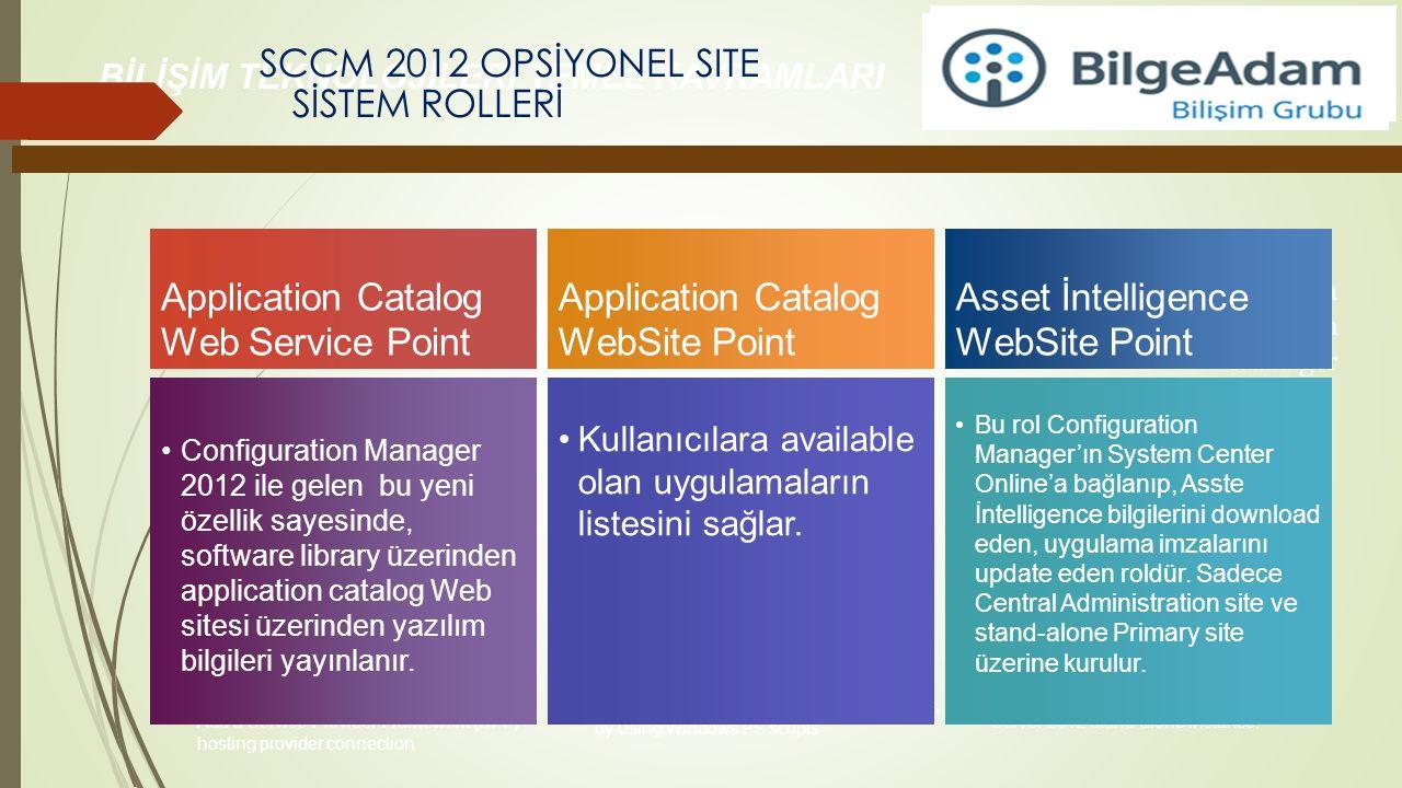 SCCM 2012 OPSİYONEL SITE SİSTEM ROLLERİ