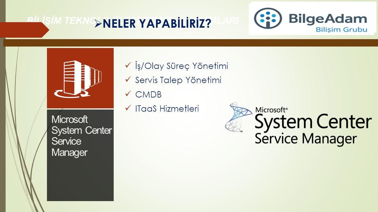 NELER YAPABİLİRİZ Microsoft System Center Service Manager