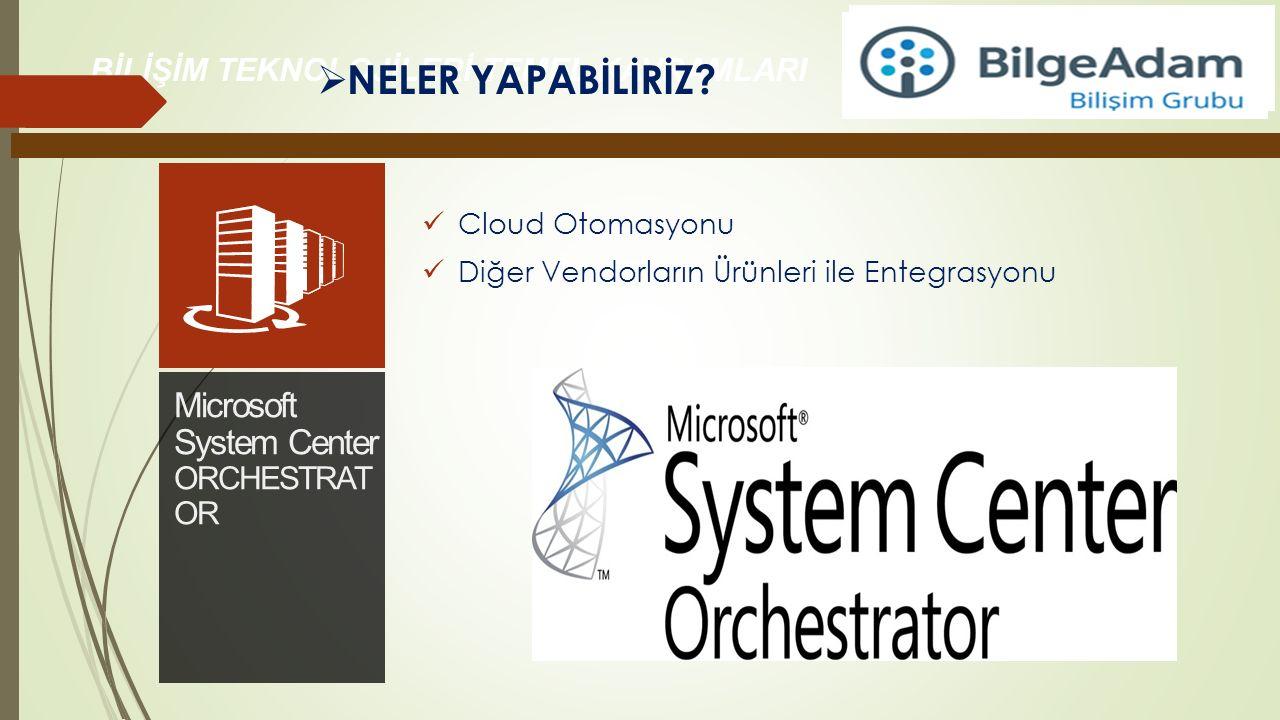 NELER YAPABİLİRİZ Microsoft System Center ORCHESTRATOR