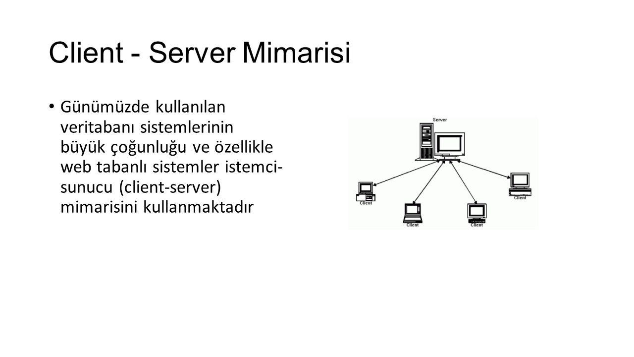 Client - Server Mimarisi