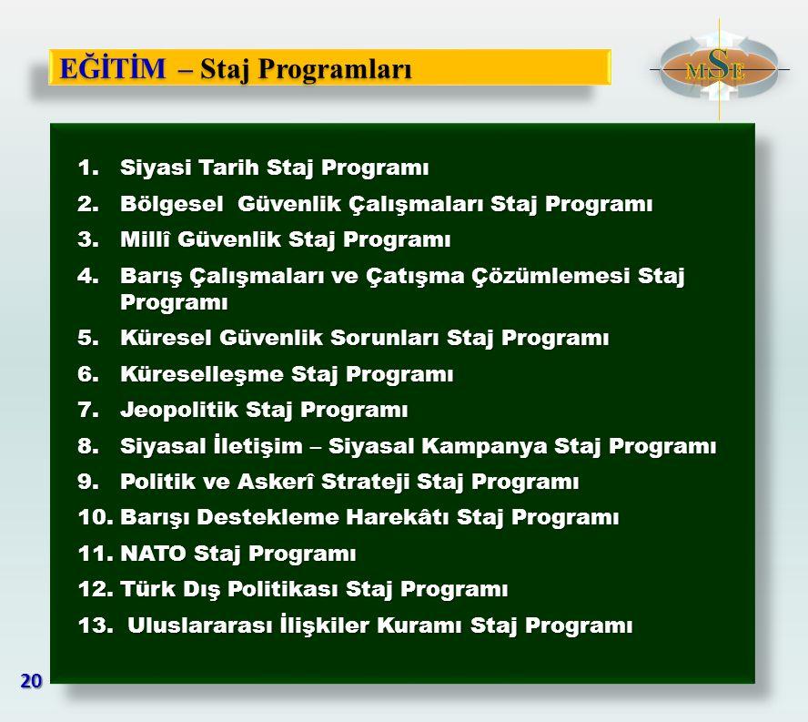 EĞİTİM – Staj Programları