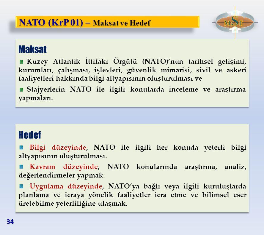 NATO (KrP 01) – Maksat ve Hedef