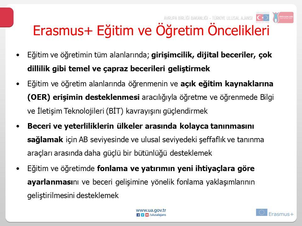 Erasmus+ Eğitim ve Öğretim Öncelikleri