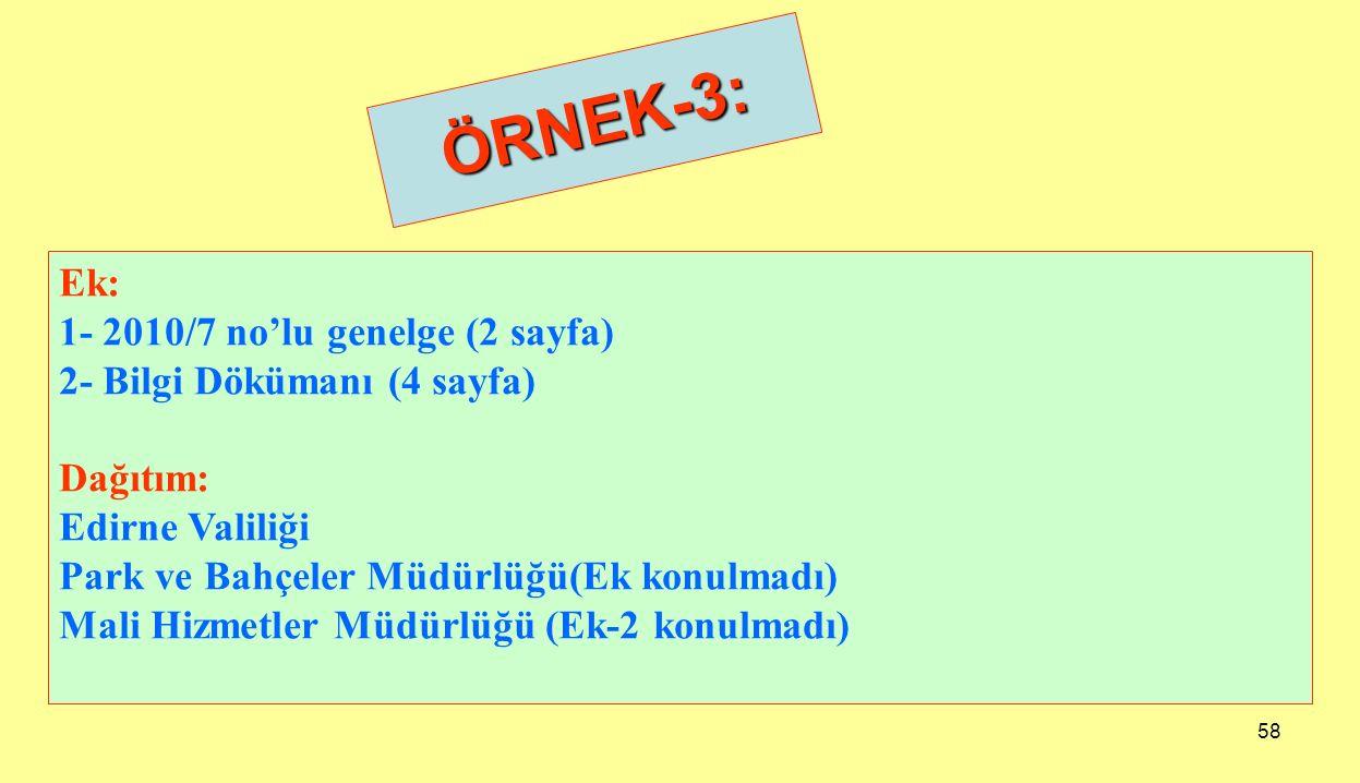 ÖRNEK-3: Ek: 1- 2010/7 no'lu genelge (2 sayfa)