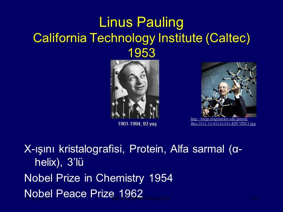 Linus Pauling California Technology Institute (Caltec) 1953