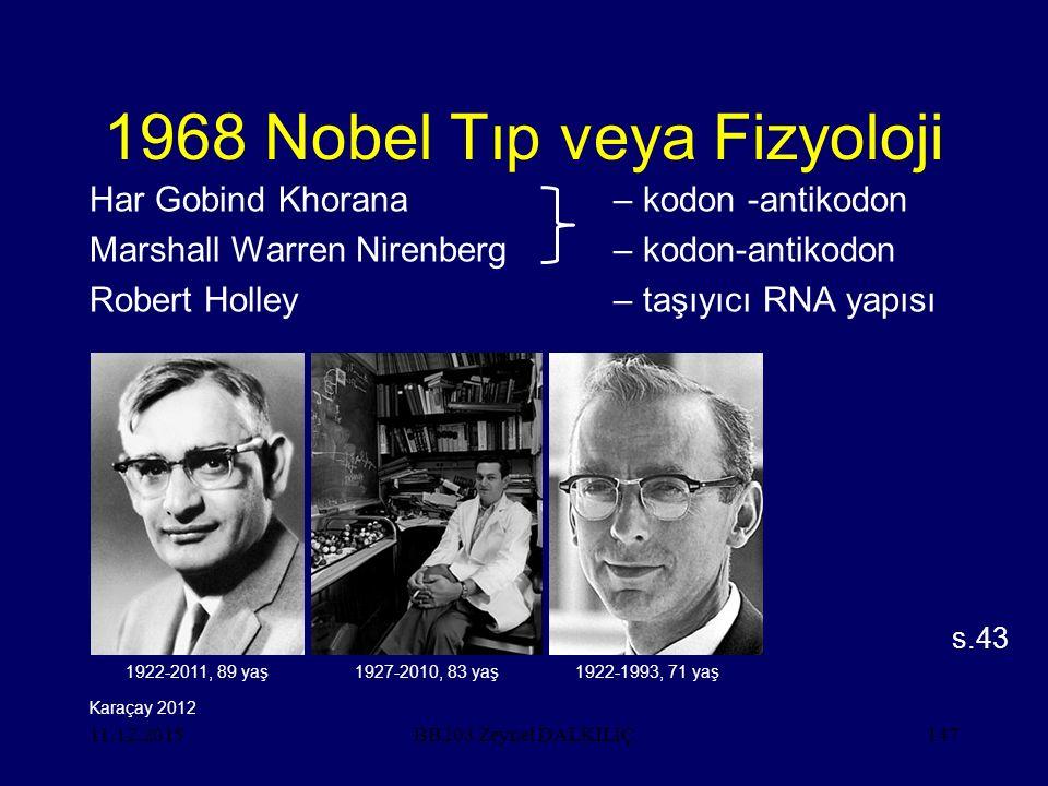1968 Nobel Tıp veya Fizyoloji