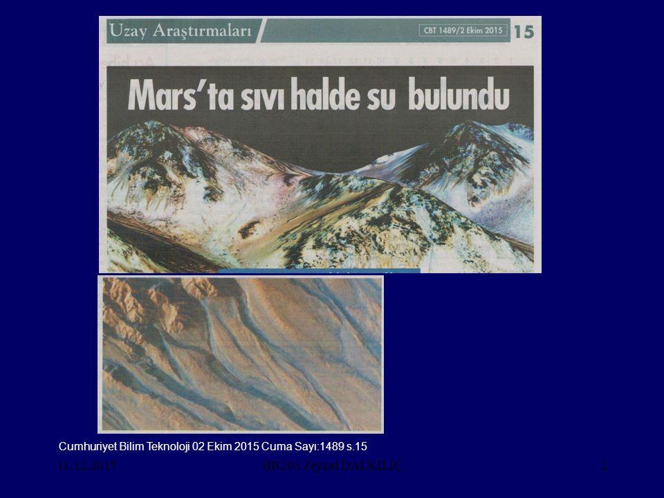 Cumhuriyet Bilim Teknoloji 02 Ekim 2015 Cuma Sayı:1489 s.15