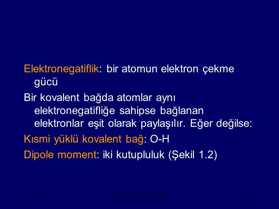 Elektronegatiflik: bir atomun elektron çekme gücü