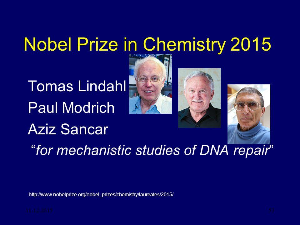 Nobel Prize in Chemistry 2015