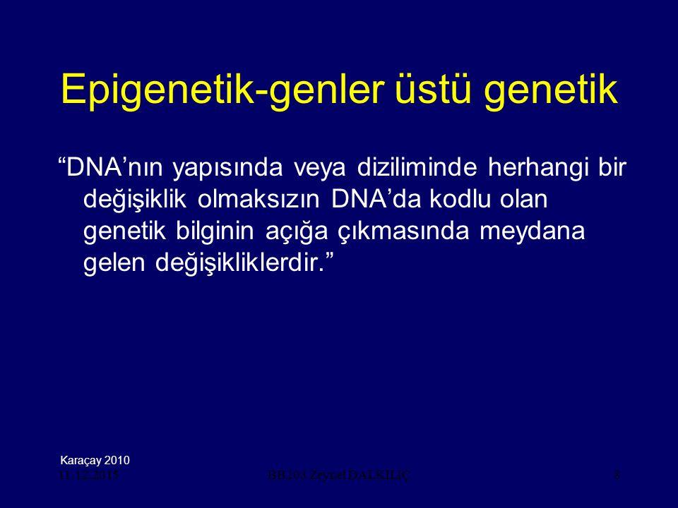 Epigenetik-genler üstü genetik