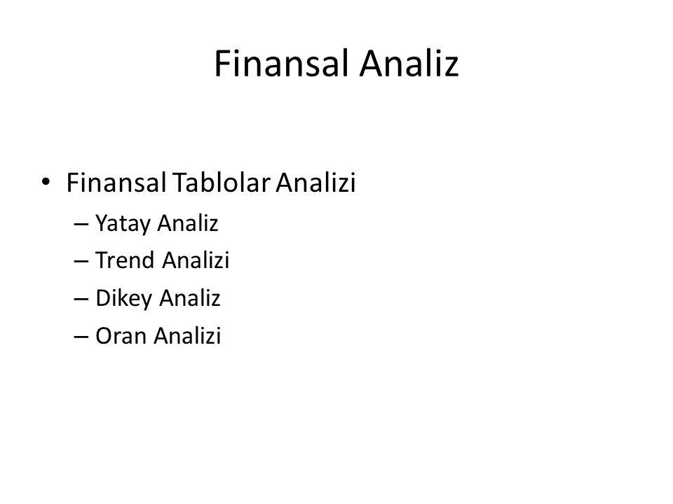 Finansal Analiz Finansal Tablolar Analizi Yatay Analiz Trend Analizi