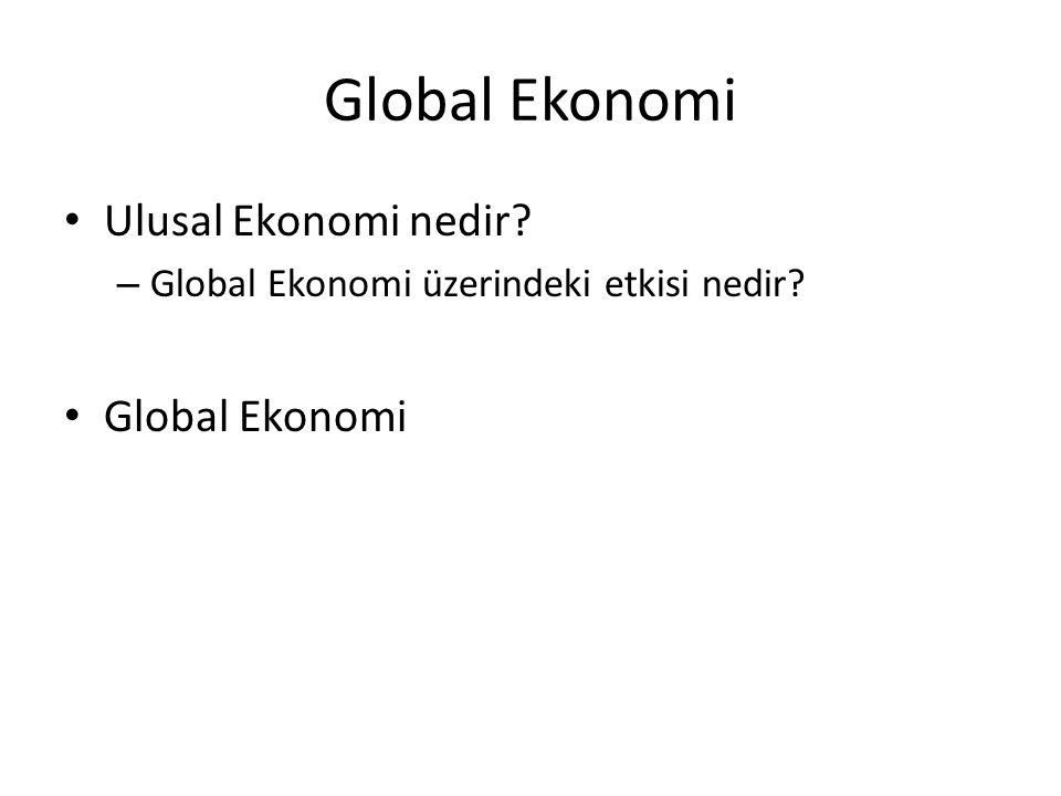Global Ekonomi Ulusal Ekonomi nedir Global Ekonomi
