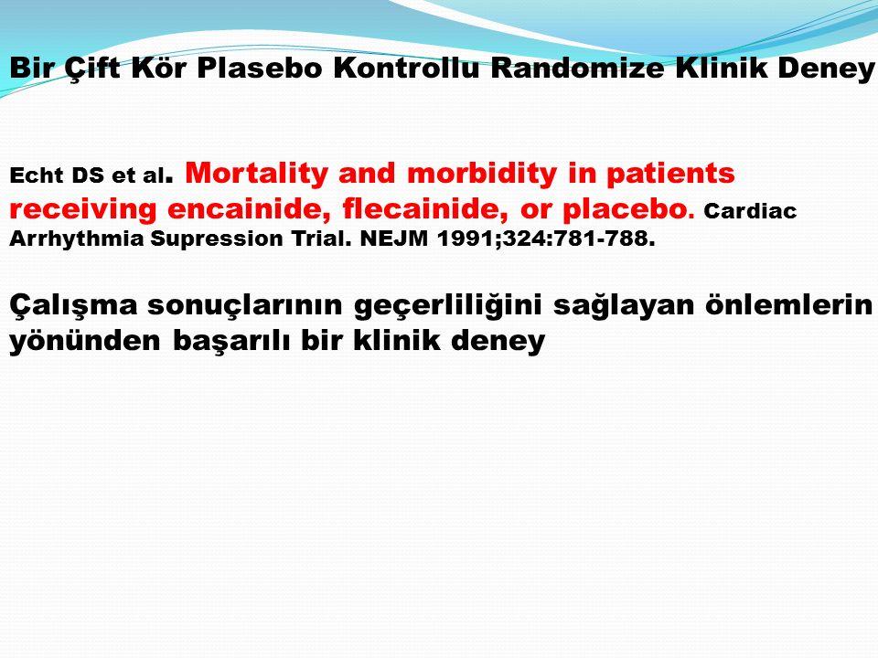 Bir Çift Kör Plasebo Kontrollu Randomize Klinik Deney
