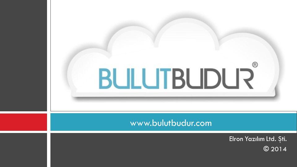 www.bulutbudur.com Elron Yazılım Ltd. Şti. © 2014