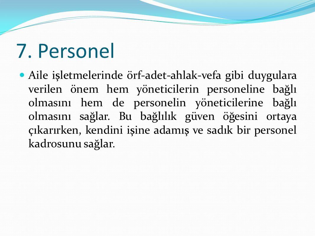 7. Personel