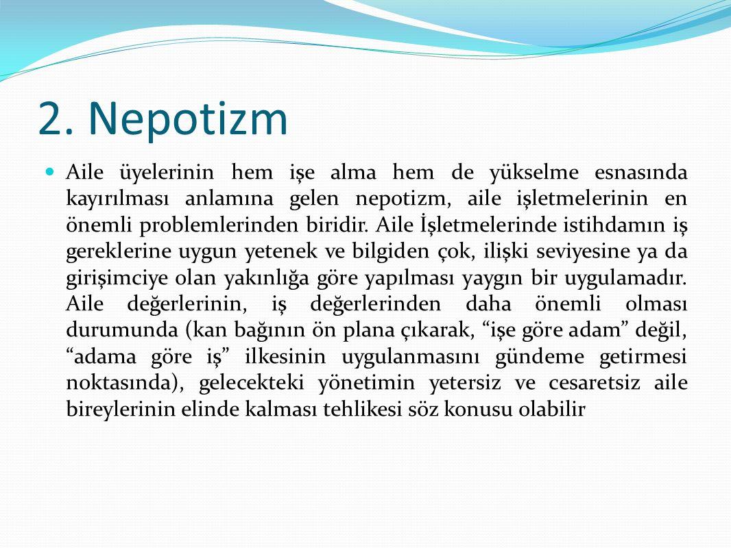 2. Nepotizm