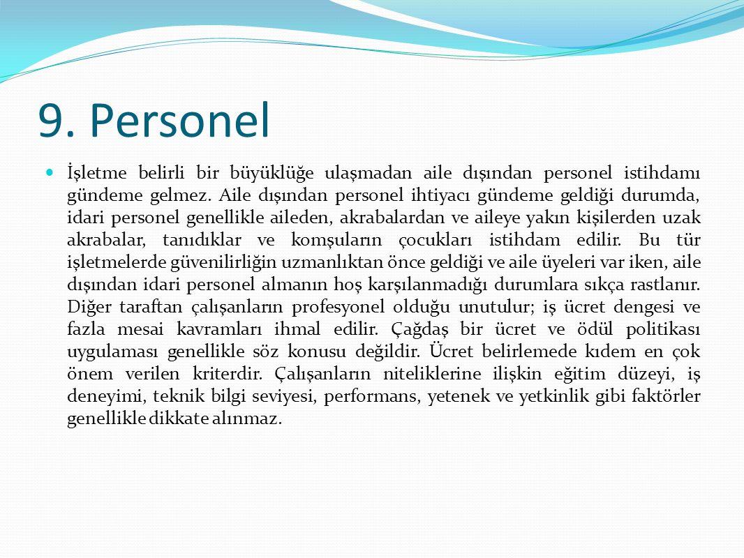 9. Personel
