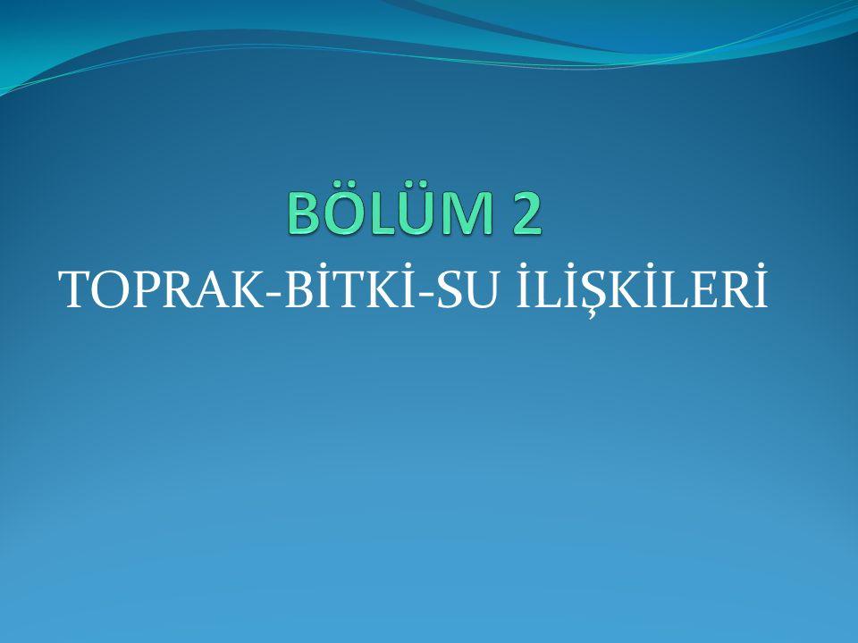 TOPRAK-BİTKİ-SU İLİŞKİLERİ