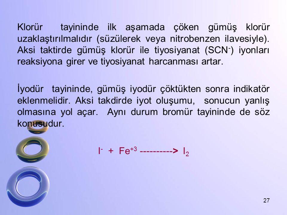 I- + Fe+3 ----------> I2