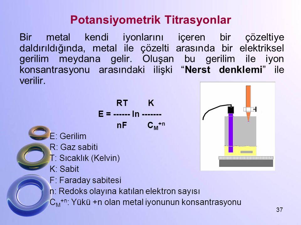 Potansiyometrik Titrasyonlar