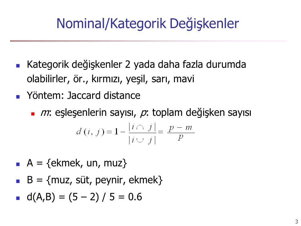 Nominal/Kategorik Değişkenler