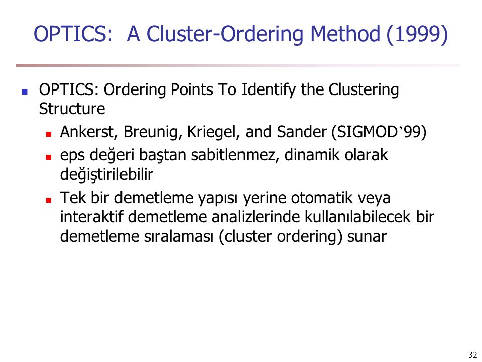 OPTICS: A Cluster-Ordering Method (1999)