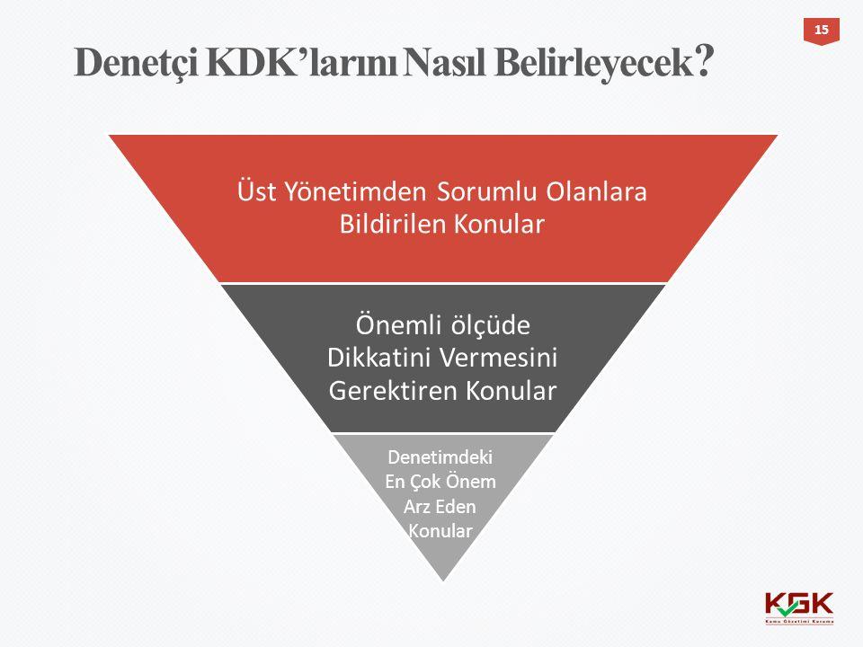 Denetçi KDK'larını Nasıl Belirleyecek